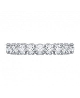 Carizza - 18K White Gold 3/4 Ct Diamond Wedding Band