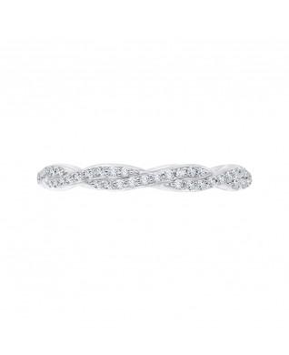 Carizza - 18K White Gold 1/3 Ct Full Diamond Wedding Band
