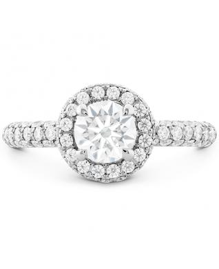 Euphoria Pave HOF Halo Engagement Ring