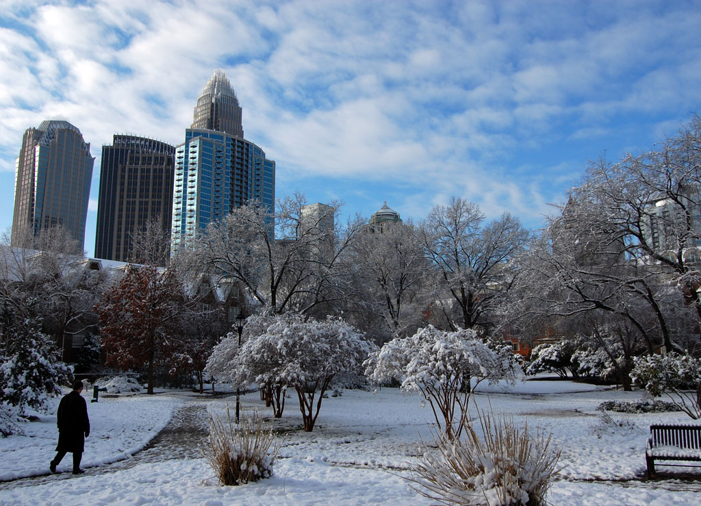 Snow in Charlotte, via James Willamor