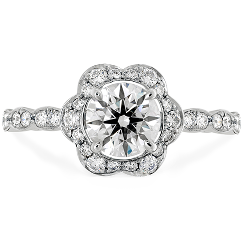 Hearts on Fire Romantic engagement ring