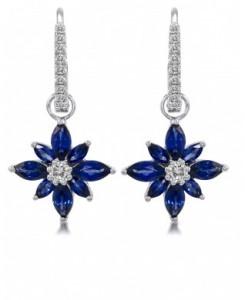 star drop diamond earrings