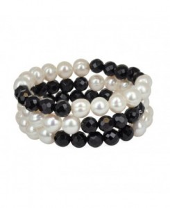 Onyx and Pearl braclet