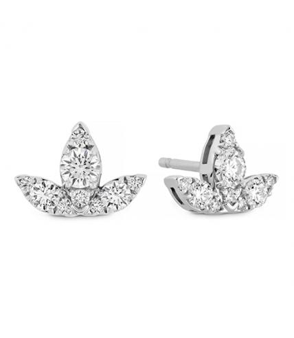 Aerial Triple Diamond Stud Earrings - S