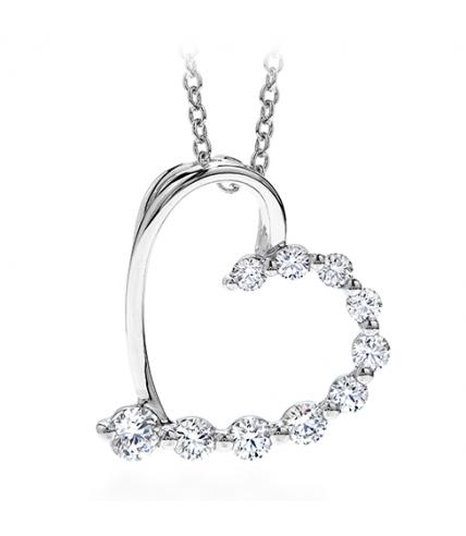Amorous Journey Heart Pendant Necklace