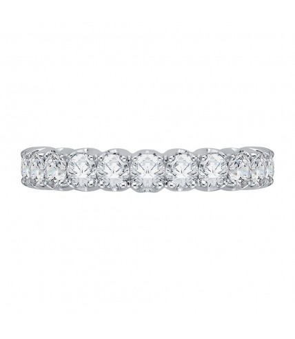 Carizza - 18K White Gold 3/4 Ct Diamond Wedding Band