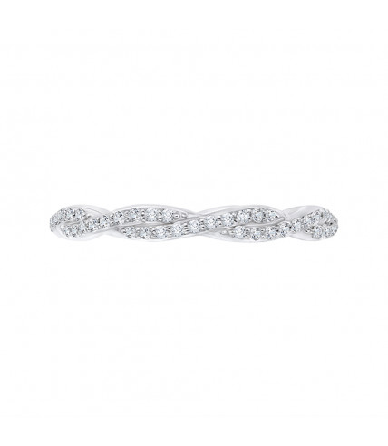 Carizza - 18K White Gold 1/3 Ct Full Diamond Wedding Band
