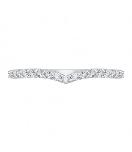 Carizza - 18K White Gold 3/8 Ct Diamond Wedding band