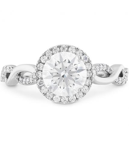 Destiny Lace HOF Halo Engagement Ring