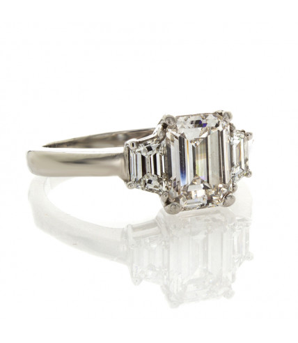 EMERALD CUT DIAMOND 1.53 CT