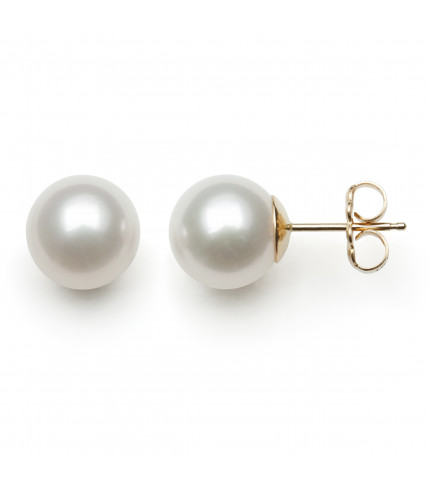 14KT YG FRESHWATER PEARL 8-9MM EARRINGS