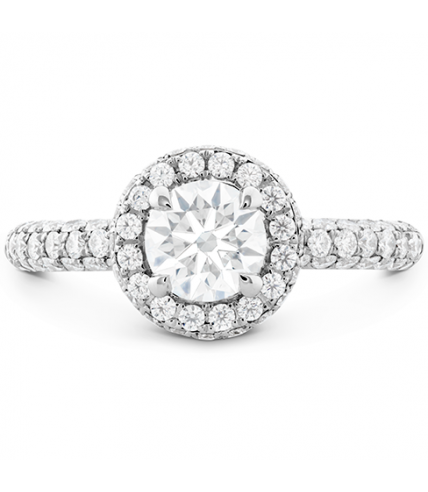 Euphoria Pave HOF Halo Engagement Ring