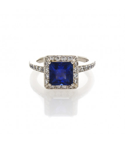 SQUARE SAPPHIRE 2.17 CTS