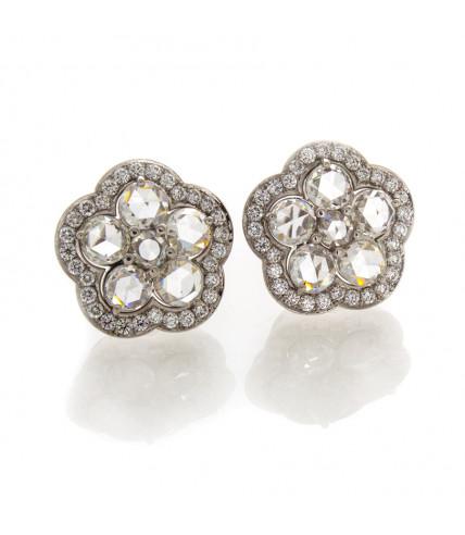 ROUND ROSECUT DIAMOND EARRINGS