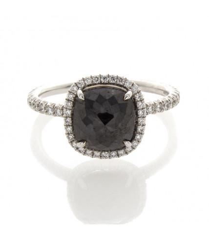 CUSHION CUT BLACK DIAMOND 2.26 CT