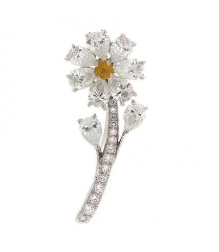 DIAMOND DAISY PIN