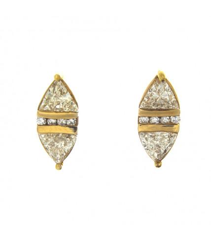 TRILLIANT DIAMOND EARRINGS