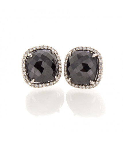 CUSHION BLACK DIAMONDS 5.52 CTS