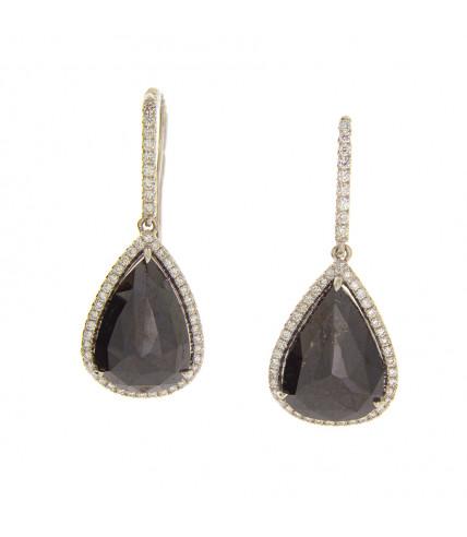 PEAR SHAPE BLACK DIAMONDS 7.58 CT