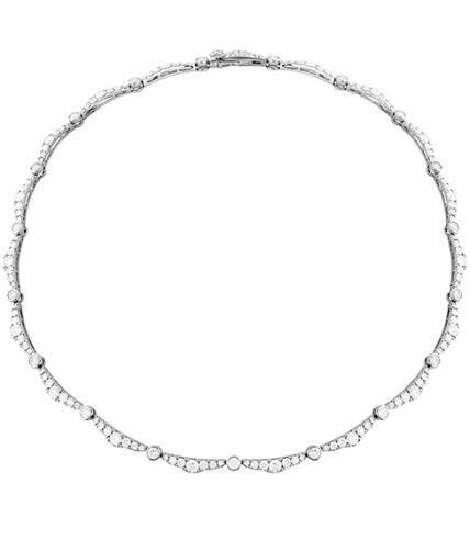 Lorelei Ribbon Diamond Line Necklace