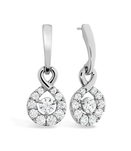 Optima Diamond Drop Earrings