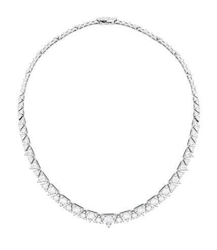 Triplicity Diamond Line Necklace