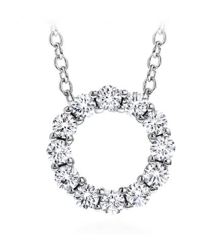 Whimsical Mini Circle Pendant Necklace