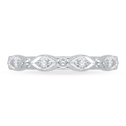 Carizza - 18K White Gold 1/5 Ct Diamond Wedding Band