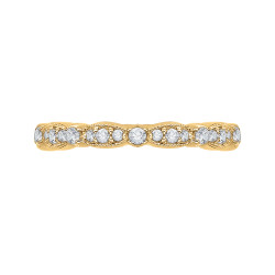 Carizza - 18K Yellow Gold 1/2 Ct Diamond Wedding Band
