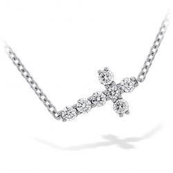 Charmed Horizontal Diamond Cross Necklace