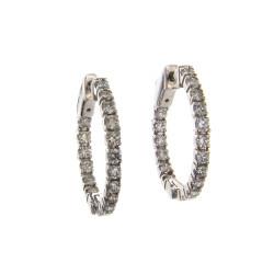 ROUND DIAMOND HOOPS 1 CT
