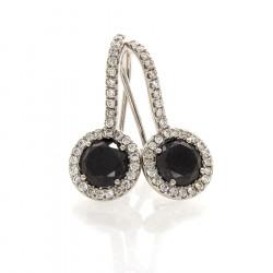 BLACK DIAMOND EARRINGS 2.16 CTS