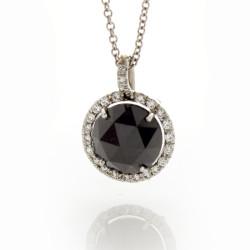 BRILLIANT BLACK DIAMOND 3.14 CT
