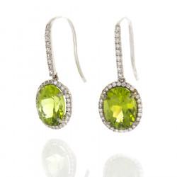 PERIDOT AND DIAMOND EARRINGS