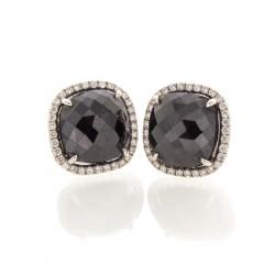 CUSHION BLACK DIAMONDS 5.52 CTS