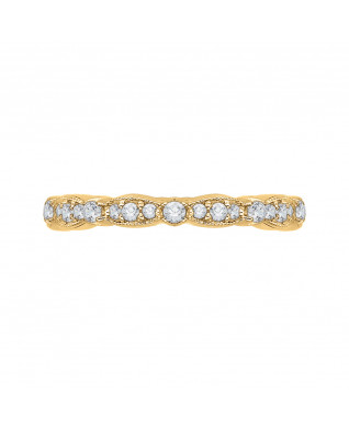 Carizza - 18K Yellow Gold 1/2 Ct Diamond Wedding Band