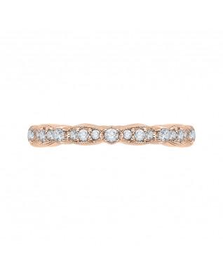 Carizza - 18K Pink Gold 1/2 Ct Diamond Wedding Band