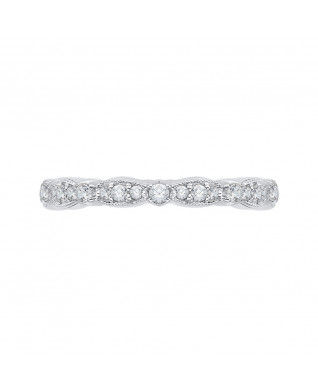 Carizza - 18K White Gold 1/2 Ct Diamond Wedding Band