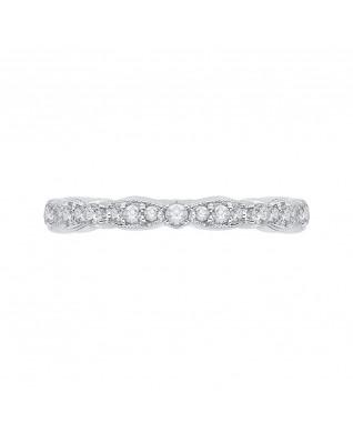 Carizza - 18K White Gold 1/2 Ct Diamond Wedding Band