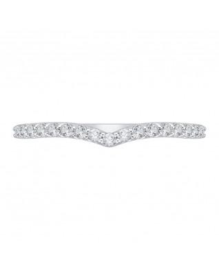 Carizza - 18K White Gold 3/8 Ct Diamond Wedding band