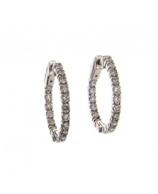ROUND DIAMOND HOOPS 1 CT