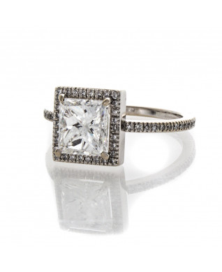 PRINCESS CUT DIAMOND 1.62 CT