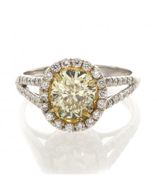 YELLOW CUSHION CUT DIAMOND 1.50 CT