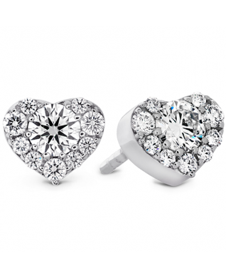 Fulfillment Heart Stud Earrings