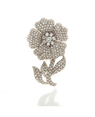 DIAMOND FLOWER PIN