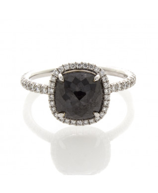 CUSHION CUT BLACK DIAMOND 2.26 CT