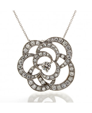 FLORAL DIAMOND PENDANT