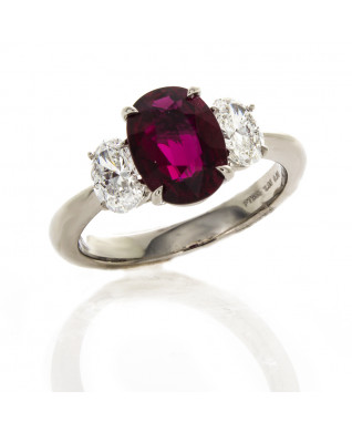 OVAL RUBY 2.05 CTS