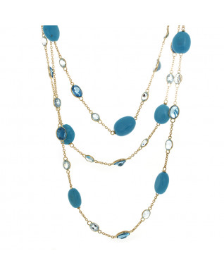 TURQUOISE AND TOPAZ NECKLACE