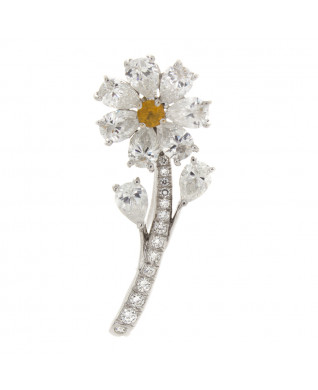 DIAMOND DAISY PIN